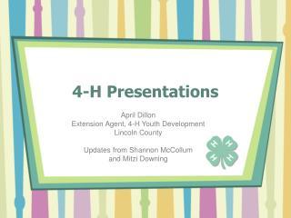 2008 4-H Presentations Update PowerPointr