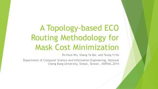 A Topology-based ECO Routing Methodology for Mask Cost Minimization