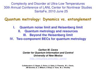Complexity and Disorder at Ultra-Low Temperatures