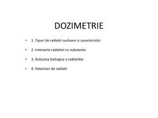 DOZIMETRIE