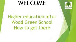 Higher education after Wood Green School How to get there