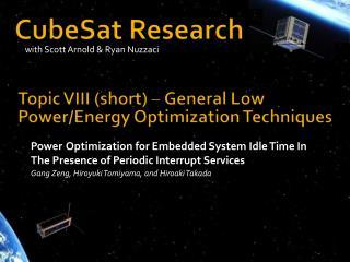 CubeSat Research