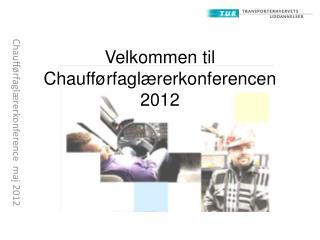 Chaufførfaglærerkonference  maj 2012
