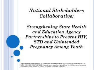 National Stakeholders Collaborative: