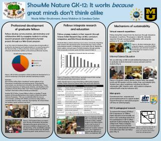 ShowMe  Nature GK-12: It works  because  great minds don't think alike