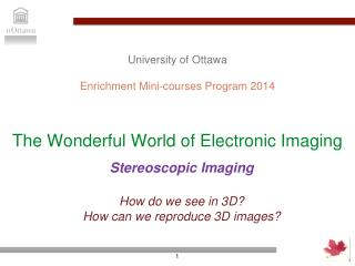 The Wonderful World of Electronic Imaging