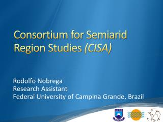 Consortium for Semiarid Region Studies  (CISA)