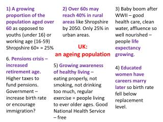 UK: an ageing population
