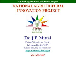 NATIONAL AGRICULTURAL INNOVATION PROJECT