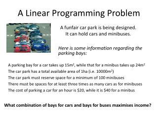 A Linear Programming Problem