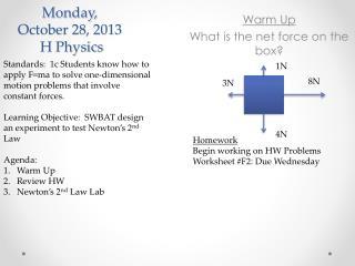 Monday,  October 28, 2013  H Physics