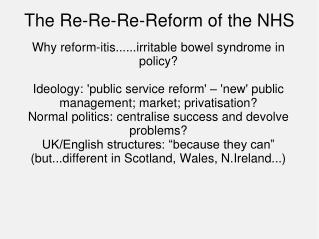 The Re-Re-Re-Reform of the NHS