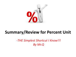 Summary/Review for Percent Unit