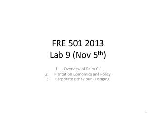 FRE 501 2013 Lab  9 (Nov 5 th )