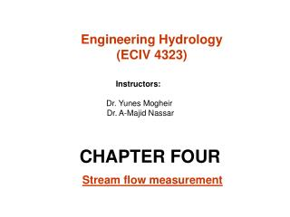 CHAPTER FOUR  Stream flow measurement