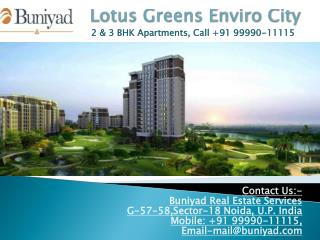 Lotus Greens Enviro City Sector 22A Greater Noida