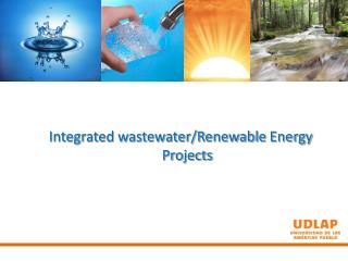 Integrated wastewater/Renewable  Energy Projects