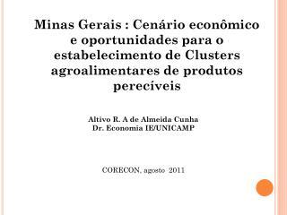 Minas Gerais : Cenário econômico