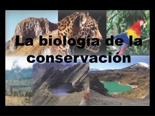 La biología de la conservación