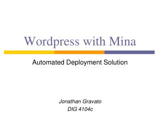 Wordpress  with Mina