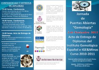 """Jornada de Puertas Abiertas """"Gemología"""""""