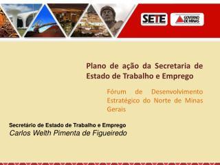 Plano de ação da Secretaria de Estado de Trabalho e Emprego