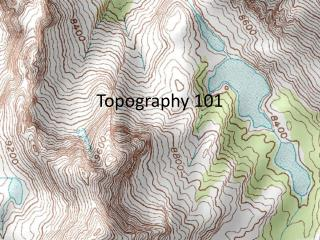 Topography 101