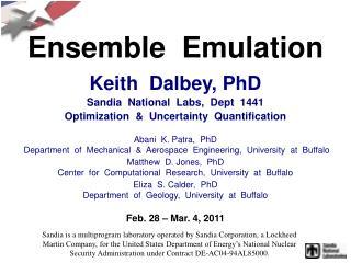 Ensemble  Emulation