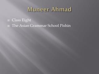 Muneer  Ahmad
