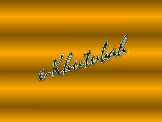 e- Khutubah