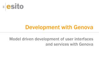 Development with Genova