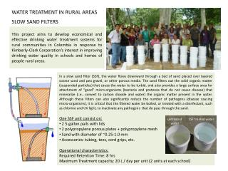 WATER TREATMENT IN RURAL AREAS