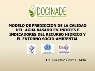 Lic . Guillermo  Calvo  B. MBA