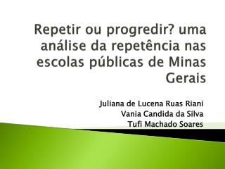 Repetir ou progredir? uma análise da repetência nas escolas públicas de Minas Gerais