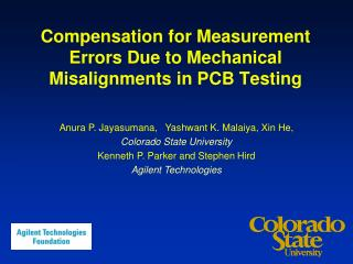 Compensation for Measurement Errors Due to Mechanical Misalignments in PCB Testing