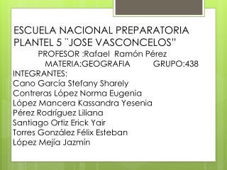 "ESCUELA NACIONAL PREPARATORIA PLANTEL 5 ¨JOSE VASCONCELOS"""