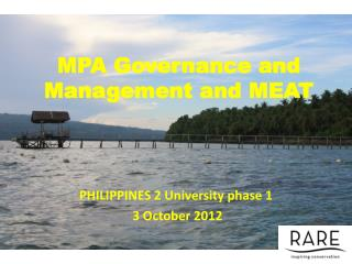 MPA Governance and Management and MEAT