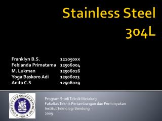 Stainless Steel 304L