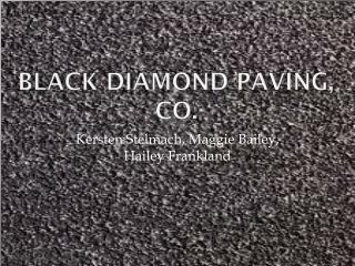 Black Diamond Paving, CO.