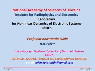 Professor Konstantin Lukin