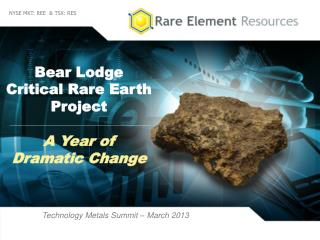 Bear Lodge  Critical  Rare Earth  Project