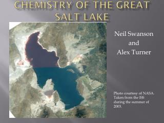 Chemistry of the Great Salt Lake