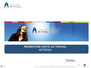 PROMOTION SANTE AU TRAVAIL ACTICALL