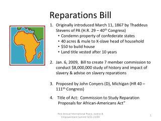 Reparations Bill