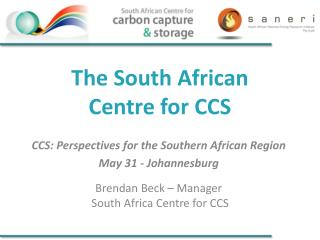 The South African  Centre for CCS