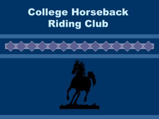 College Horseback Riding Club Fun Horse Show