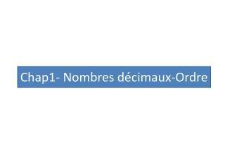 Chap1- Nombres décimaux-Ordre
