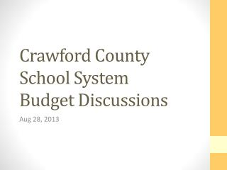 Crawford County School System Budget Discussions