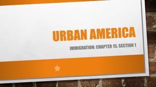 Urban America
