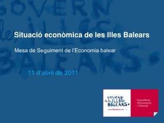 Situació econòmica de les Illes Balears